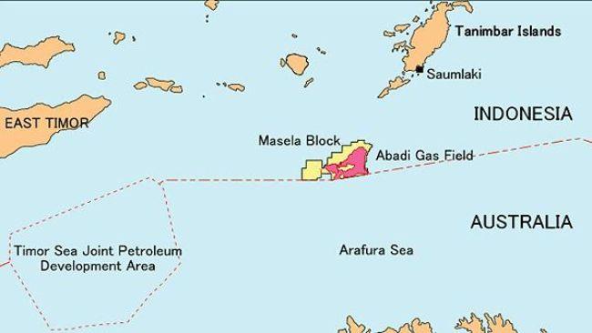 Peta Blok Masela | Foto : Istimewa