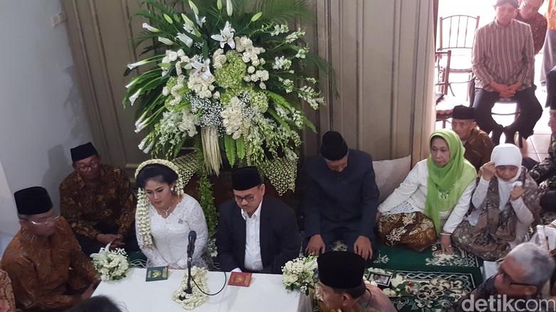 Pernikahan Sudirman Said dan Astried Swastika. (Foto: Detik.com)