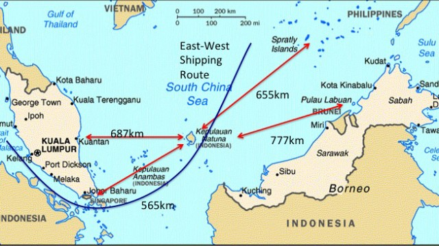 Peta Natuna. | Foto: Istimewa.