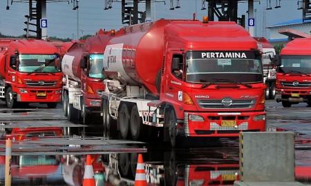 Truk Distribusi BBM Pertamina. | Foto : Istimewa.
