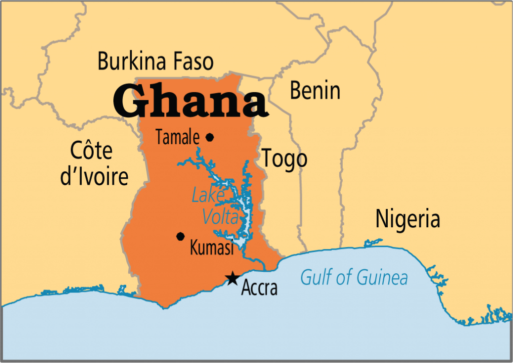 Ghana map | Photos : Wikipedia