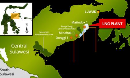 Peta lokasi Kilang DSLNG | Foto : Istimewa