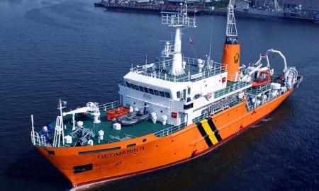 Kapal Riset Geomarin 3. | Foto : Istimewa.