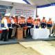 Menteri ESDM Ignasius Jonan di Bojonegoro, Senin (25/9), meresmikan peletakan batu pertama (ground breaking) proyek unitisasi Lapangan Gas Jambaran Tiung Biru.   Foto : Istimewa.