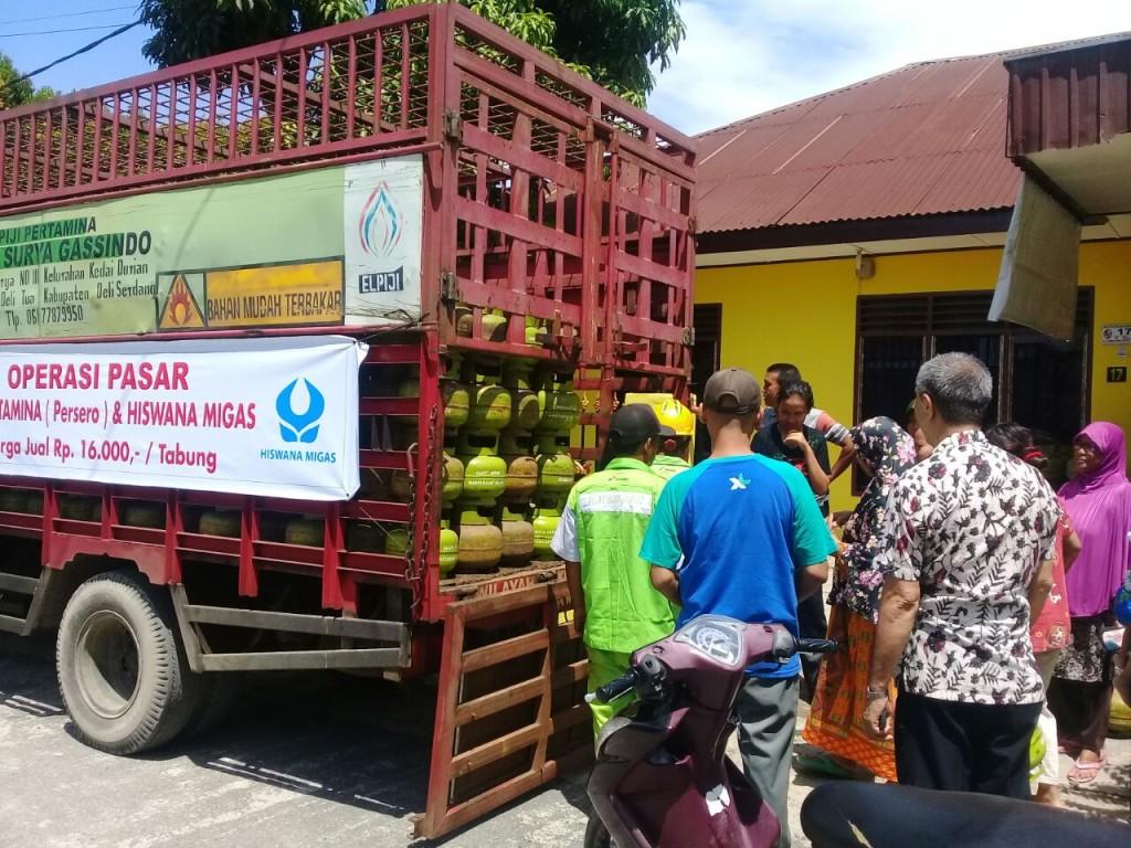 Operasi pasar LPG. | Foto : Istimewa.