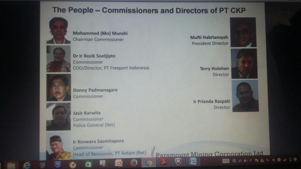 Struktur manajemen PT CKP periode 2013 | Foto : Eksplorasi.id