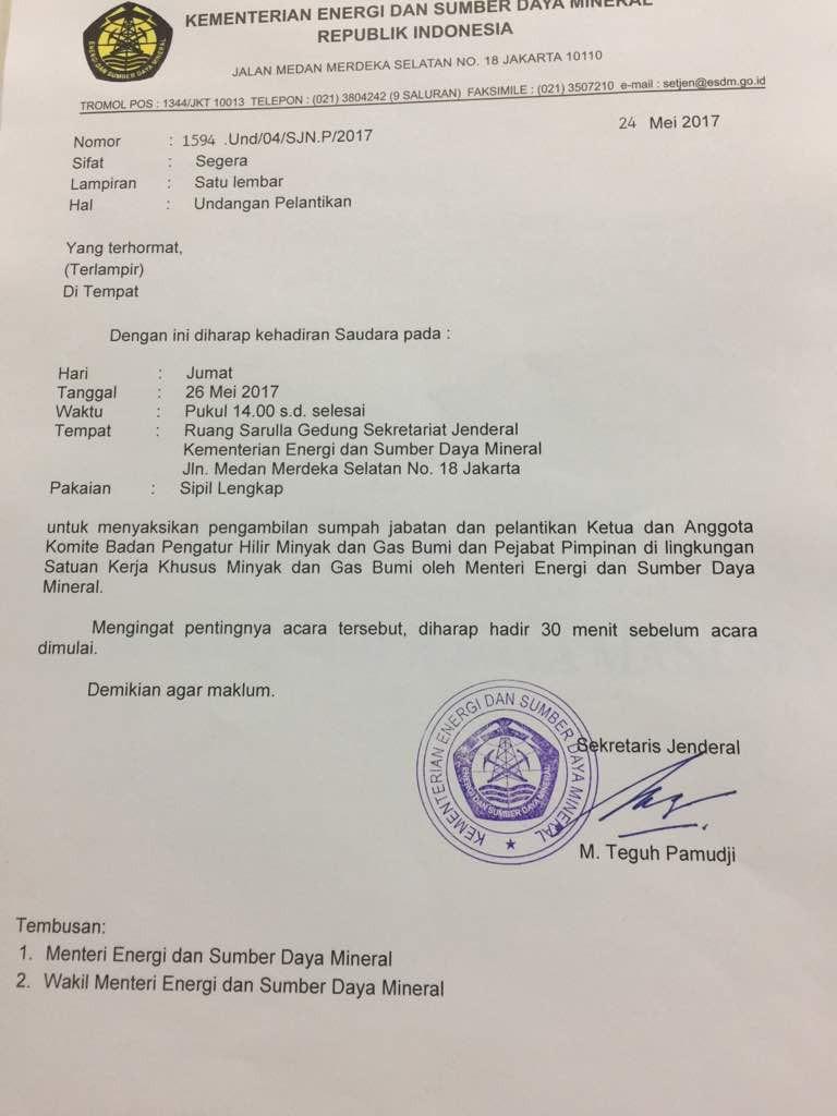 Surat ESDM