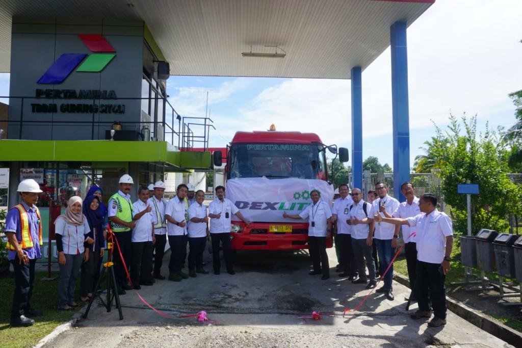 Peluncuran Dexlite di Gunungsitoli. | Foto : Istimews.